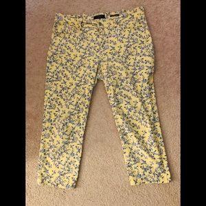 Capri pants with 2 front pockets & 2 back pockets